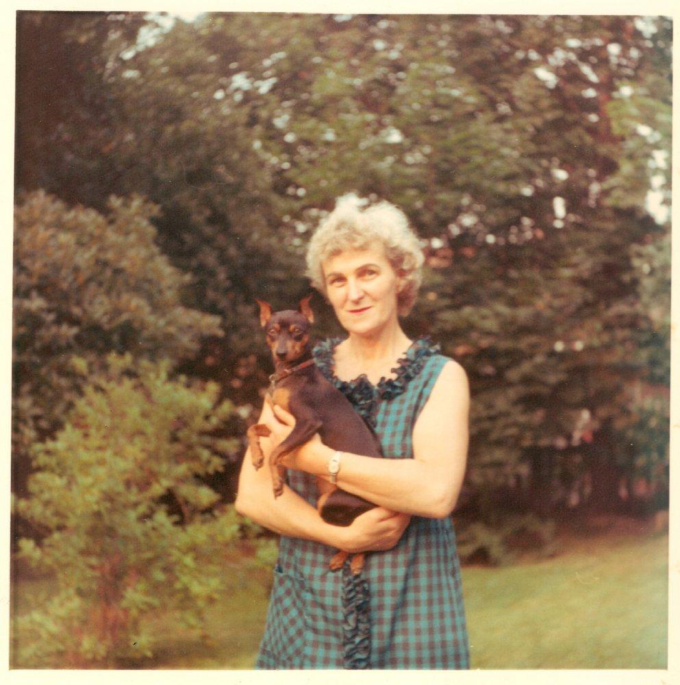 Mit Hund in New York, USA, 1967