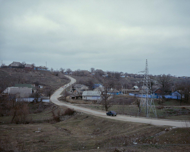 Blick auf Taschlyk, einem Ort im Rajon Grigoriopol. Während in Tiraspol der Anteil der Moldauer nur ca. 15% beträgt, liegt er hier bei über 60%.