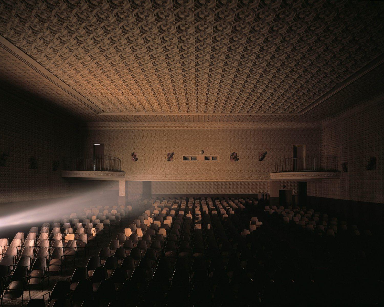 Blick in den großen Saal des Kulturhauses von Kitskany.